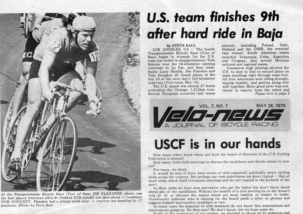 Velonews Article 1978